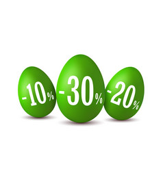 easter egg sale happy easter eggs 3d template vector image
