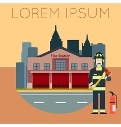 Fire station banner10 vector