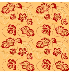floral ornament sketch vector image
