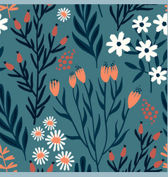 floral seamless pattern design for vector image