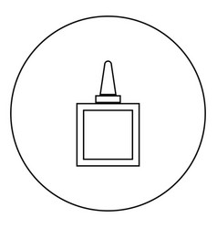 glue black icon in circle outline vector image