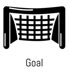 Goal soccer icon simple black style vector