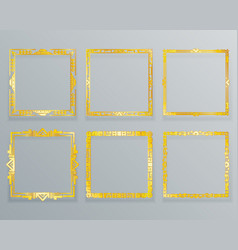 gold ethnic design decorative geometric foil vector image