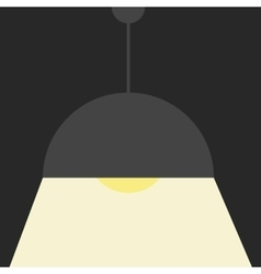 Gray ceiling lamp vector image
