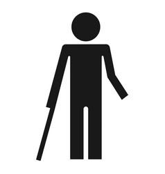 Handicap man icon simple style vector