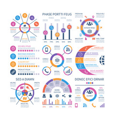 infographics marketing graphs financial workflow vector image