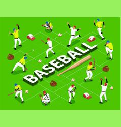 isometric baseball flowchart vector image
