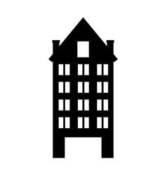 Italian building icon vector