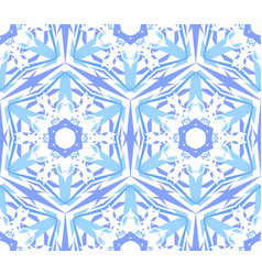 kaleidoscopic pattern light blue star vector image