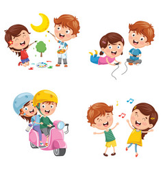 kids having fun vector image