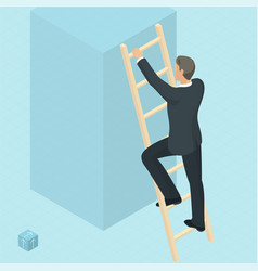 ladder to success vector image