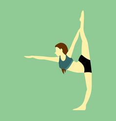 Leg stretches yoga pose vector