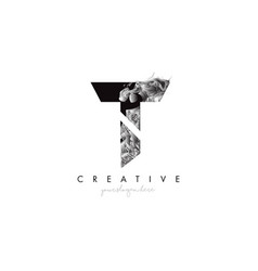 Letter t logo design icon with artistic grunge vector