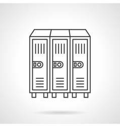 Locker flat line icon vector