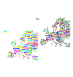 Map of continent europe vector