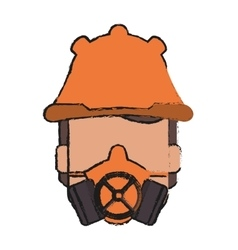 Mask and helmet of industrial security design vector