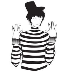 Mime artist vector