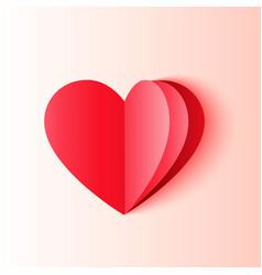 minimal origami style heart shape vector image
