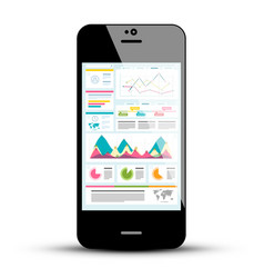 Mobile phone with statistics application vector