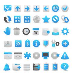 modern blue icon set vector image