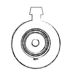 Monochrome sketch of video security camera lens vector