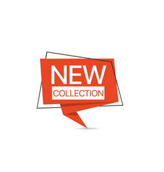 new collection red label template vector image