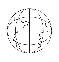 outline network global connection data technology vector image