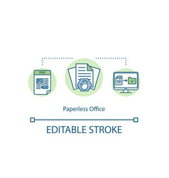 paperless office concept icon vector image