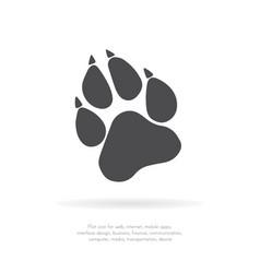 paw prints logo vector image