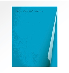 Peace blue paper vector