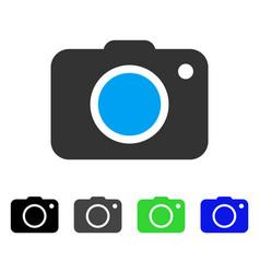 Photo camera flat icon vector