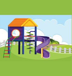 playhouse in the nature vector image