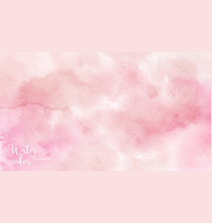 red pink abstract watercolor brush background vector image