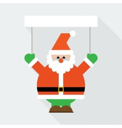 Santa Claus greeting vector image