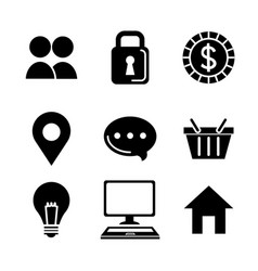 set of modern icons of social networking and vector image