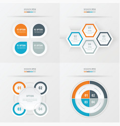 Set of presentation design orange blue gray vector