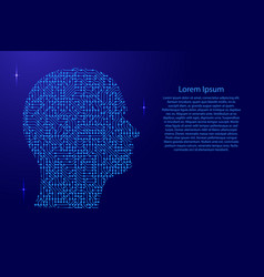 silhouette of male head on the side printed board vector image