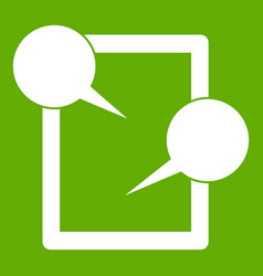 tablet chatting icon green vector image
