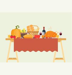 thanksgiving dinner vector image