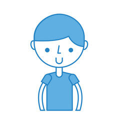upper body boy cartoon vector image