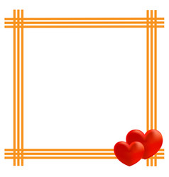 valentine card frame design template vector image