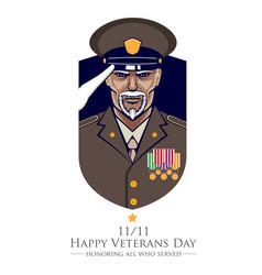 Veteran salute vector