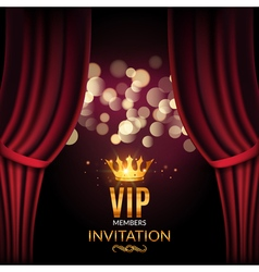 Vip invitation luxury poster design Golden word vector image