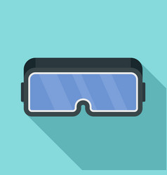 vr game goggles icon flat style vector image
