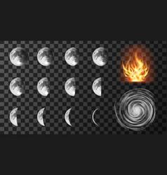 weather meteo icons realistic set vector image