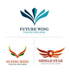 Wing abstract logos vector