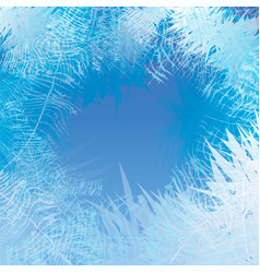 winter frosted window background freeze and wind vector image