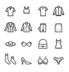Women Clothing Icons vector