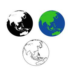 World map asia asean vector