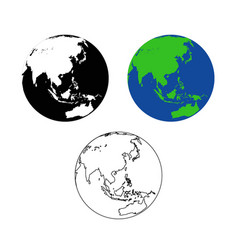 world map asia asean vector image